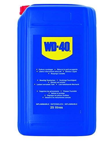 WD-40 • Produit Multifonction • Bidon • Sans Silicone • Non Conducteur • Compatible Plastiques, Caoutchoucs, Tous Métaux • 25 L