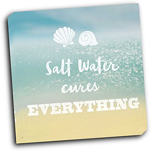 wallsthatspeak Salt Water Cure 16x16 Gallery Wrapped Stretched Canvas