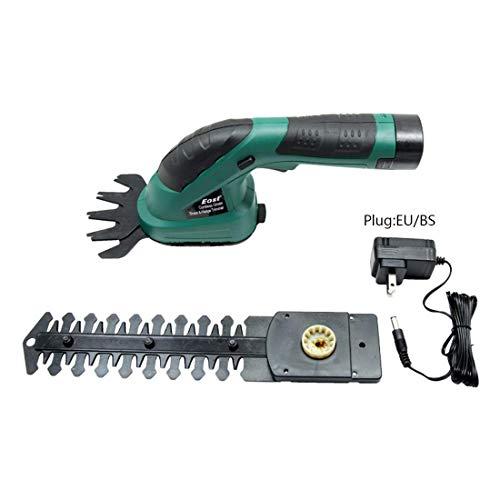 GCZZYMX eléctrica sin cuerda Shearer cortasetos recargable 7.2V batería ligera manija hierba y arbustos cortasetos y cortador para Gardening árbol frutal