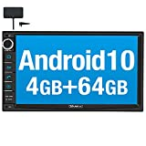 Vanku Android 10 Autoradio mit Navi 64GB+4GB Eingebautes DAB + Modul Unterstützt Qualcomm Bluetooth 5.0 WiFi 4G Android Auto Doppel Din 7 Zoll Bildschirm