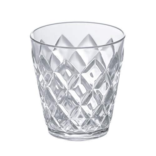Koziol–Bicchiere Crystal S, Plastica, 8.4x 8.4x 9cm, Plastica, Trasparente, 8.4 x 8.4 x 9 cm