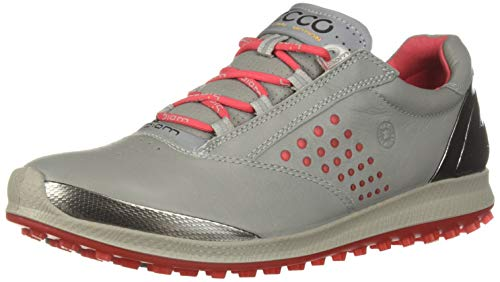 ECCO Women's Biom Hybrid 2 Hydromax Golf Shoe, Wild Dove Yak Leather, 5-5.5