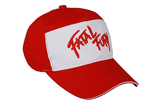 Terry Bogard Cosplay Visored Baseball Cap The King of Fighters Fatal Fury Cosplay Embroidered Hat Adult Trucker Hat