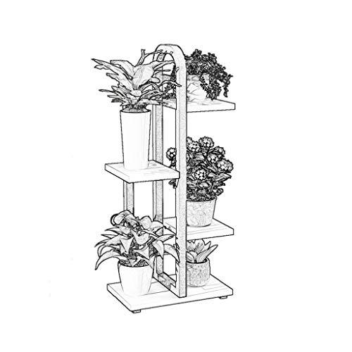 YXB Blumenregal Multi-Layer-Indoor-Wohnzimmer Stand Eisen Kunst Sukkulenten (Farbe: Weiß, Größe: Vier Schichten)