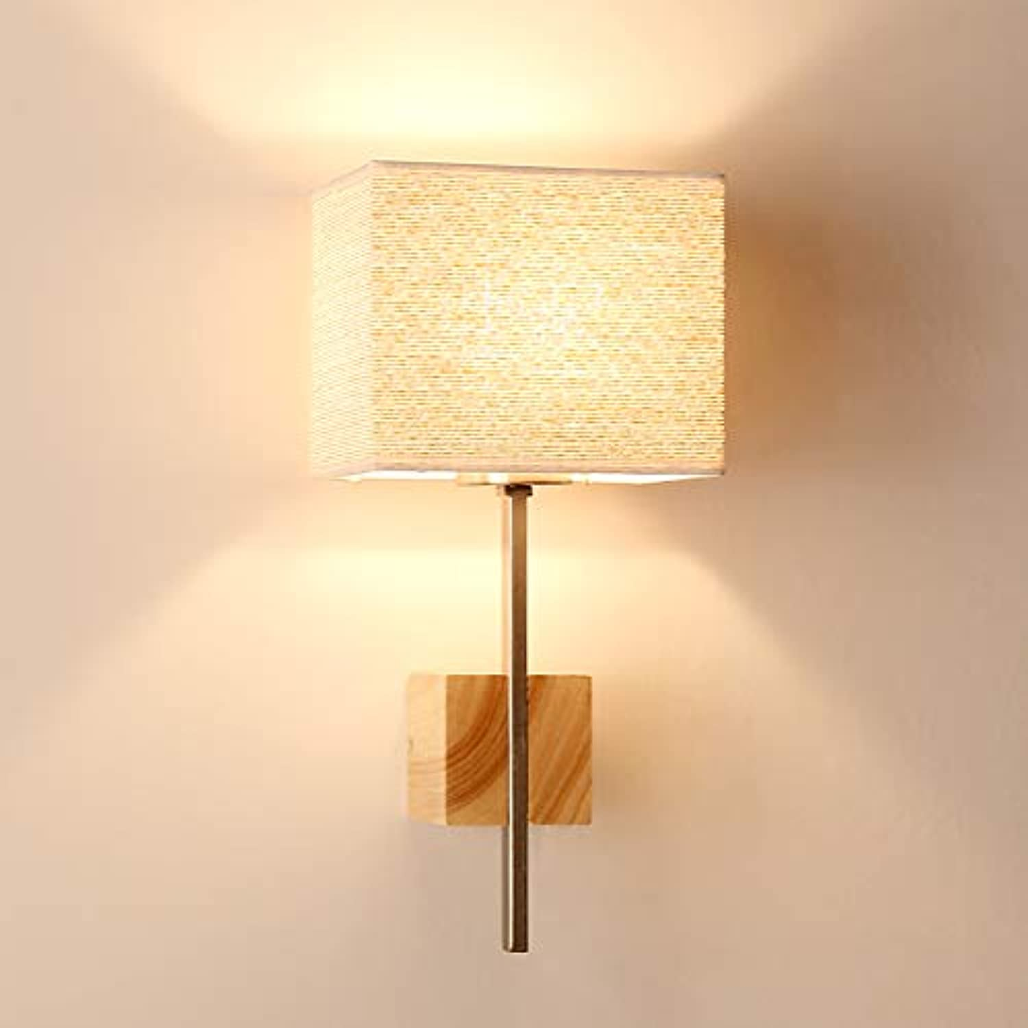 AGECC Simple Log Wall Lamp Garden New Bedroom Bedside Modern Living Room Study Aisle Stairs. B
