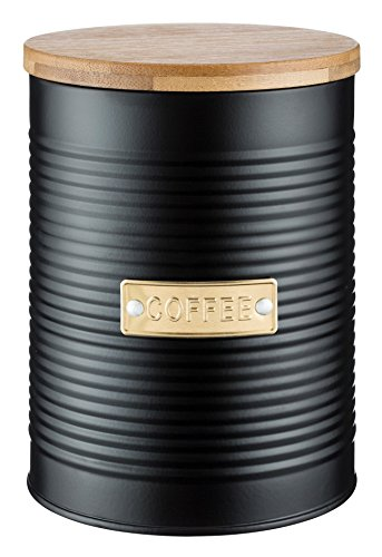 TYPHOON OTTO Kollektion Kaffee, schwarz, 1,4 Liter Vorratsbehälter, Stahl, Bambusholz, Silikon