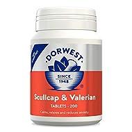 Dorwest Herbs Scullcap & Valerian Tablets - 200 tablets
