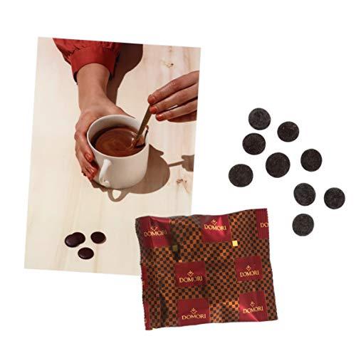 Domori Chispas De Chocolate Negro 72% Para Preparar Chocolate A La Taza - 50 Sobres De 47 Gramos Cada Uno