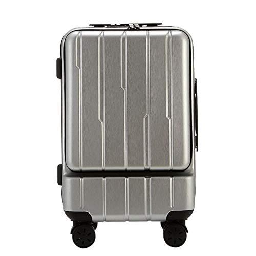 Lcxliga ABS de Moda, Rueda Universal, Maleta de embarque, Maleta, absorción de Choque silenciosa, 20 Pulgadas (Color : Silver)