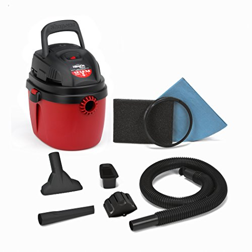 Shop-Vac 2030100 1.5-Gallon 2.0 Peak HP Wet Dry Vacuum Small Red/Black