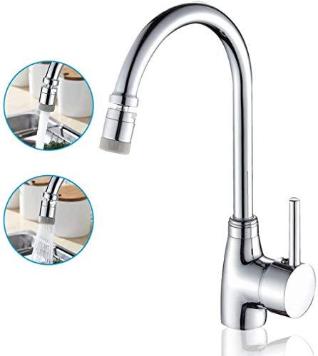 Rubinetto Kitchen Sink Miscelatorecanna alta rubinetto della cucina con bocca girevolea 360 ° girevole in ottone massiccio del dispersore di cucina lavabo TapChrome