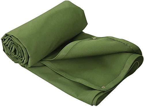 FFJD Canvas Tarpaulin Heavy Duty Waterproof Tarpaulin for Sun and Rain Anti-oxidation Tear Resistance Green 3m×3m-5m×7m