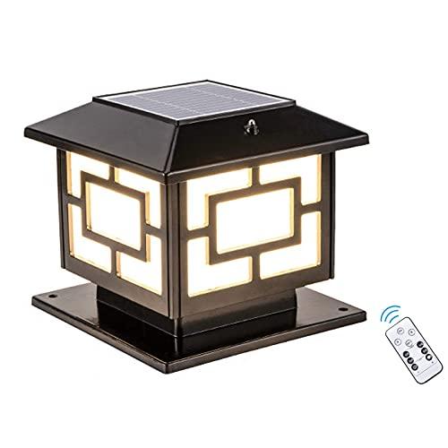 Lampada da Esterno a LED da Giardino con Illuminazione a LED, Impermeabile, a energia Solare, per Esterni, con Telecomando, dimmerabile, 3 Temperature di Colore, 25 cm 5 W