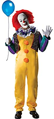 Rubie's IT The Movie Adult Pennywise Deluxe Costume, As Shown