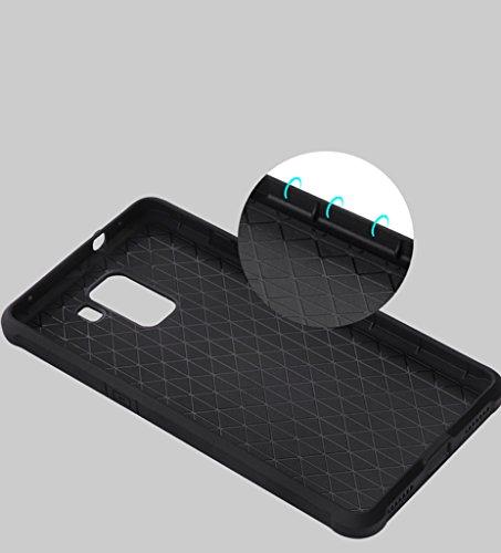 Schutzhülle Huawei Honor 7 Hülle, Business Serie Stoßfest Ultra Dünn Weich Silikon Rückseite Fall für Huawei Honor 7 (Schwarz) - 4