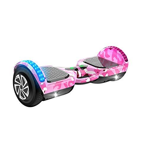 Motor Hoverboard 500W Motor Most Speed of 15km / H Neumáticos A Prueba De Explosiones Bluetooth Altavoz LED Iluminación De La Parte Superior del Regalo para Los Niños Coche de Equilibrio