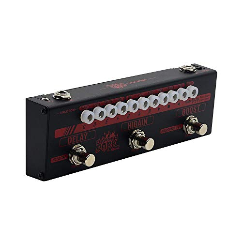 Valeton Dapper Dark Mini High Gain Verzerrung Delay Heavy Metal Djent Metalcore Gitarre Multi-Effektpedal