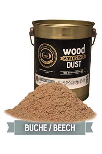 Grillgold Räuchermehl Wood Smoking Dust. Zum räuchen und kalträuchern von Fisch, Fleisch und Gemüse auch für BBQ und Grill geeignet. In Metall-Eimer befüllt mit 2 Liter Buche