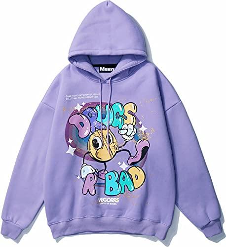 Unisex Hooded Sweatshirt Black Pullover Hoodie For Mens Long Sleeve...