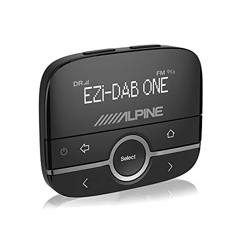 Alpine EZI-DAB-ONE - Auto Media-Receiver (Schwarz, LCD, USB Typ-A, DAB,DAB+,FM, 87,6-107,9 MHz, 72 mm)