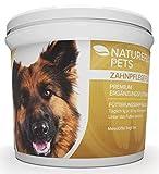 Natureflow Zahnpflege für Hunde - Zahnsteinentferner Ergänzung bei Hunden - Wirksame Reinigung für Zähne & Zahnfleisch - Pulver 100g Premium Ergänzungsfuttermittel