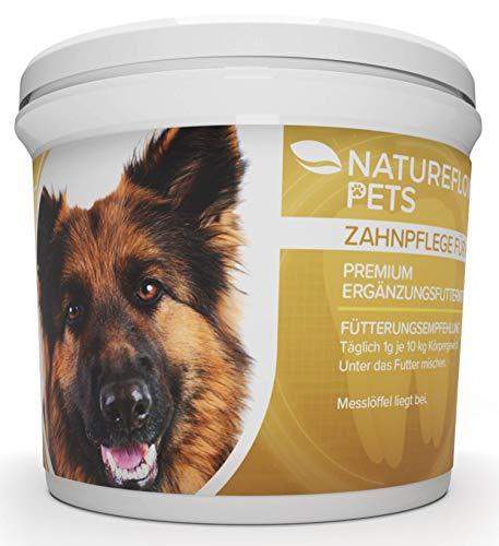 Natureflow Zahnpflege für Hunde - Natürlich und Wirksame Reinigung für Zähne & Zahnfleisch - Pulver Hergestellt in Deutschland