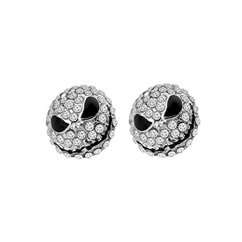 MYOSPARK Happy Jack Skellington Crystal Stud Post Earrings Nightmare Before Christmas Earrings Halloween Jewelry Gift (Jack Skellington Earrings)