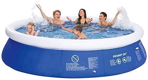 YF-SURINA Gartenschwimmbäder, schnelles Familienschwimmbad, Kinderschwimmbäder für Erwachsene für Gärten, verschleißfestes, dickes Marineballbecken, rund,300 * 76 cm,300 * 76 cm
