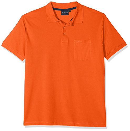 North 56-4 99011 Polo, Orange (0200), XXL Homme