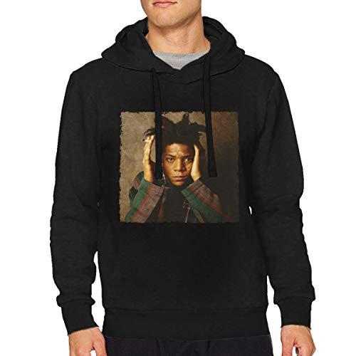 MillicentCobb Jean-Michel Basquiat Adult Hoodies Long Sleeve Hoodie Pullover Hooded Sweatshirt Keep Warm and Comfortable Cotton Tops Black 3X-Large