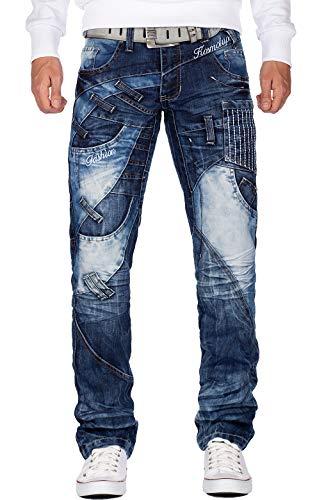 Kosmo Lupo Herren Jeans KM130, Modell-04 - Kosmo Lupo, 32W / 32L