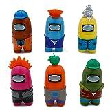 CYSJ 6 PCS Entre Nosotros muñecas, Among Us Game Doll Hot Game Figure, Figures Set de decoración para decoración de Oficina de Coche, Decoración de Mesa de Navidad Manualidades para Regalo