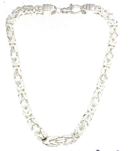 Königskette 925 Silber 8 mm 60 cm Silberkette Halskette Damen Herren Anhängerkette Schmuck ab Fabrik tendenze Italy D-BZ8-60v