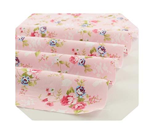 Tissu matelassé au mètre | Motifs floraux imprimés roses 50 cm x 160 cm/pièce Tissu en coton Matelassage Tissu textile à la maison -