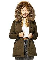 Elara Dames winterparka echt bont jas jas Chunkyrayan