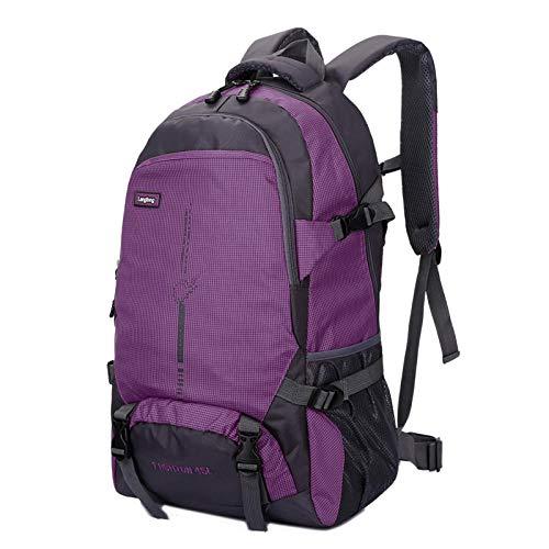 Topashe Mochila de Senderismo Cubierta Camping Deporte,Bolsa de Viaje al Aire Libre, Bolsa de montañismo de Gran Capacidad-Violeta_45L,Mochila Trekking Escalada