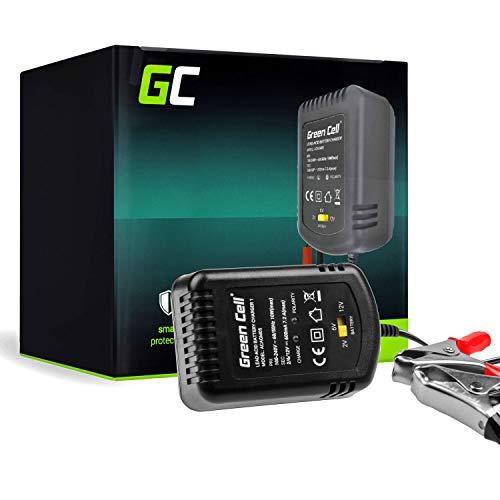 Green Cell-Ladegerät (AGM, Gel, MF, SLA, VRLA) Automatische Kompensation Spannung 2V / 6V / 12V (0.6A) Batterieladegerät für Motorroller UPS ATV Motorrad