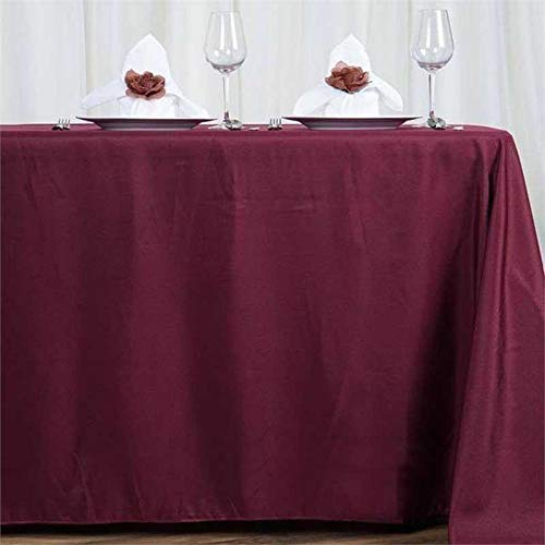 LinenTablecloth 70 x 120-Inch Rectangular Polyester Tablecloth Burgundy