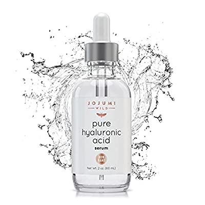 Jojumi Wild 2 oz. Pure Hyaluronic Acid Serum for Skin, Face and Under Eye - Best Hydrating Facial Serum for Anti-Aging and Skin Care to Reduce Wrinkles and Fine Lines