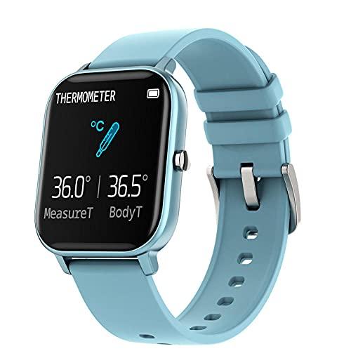 Reloj Inteligente información Empuje música Deportes Pulsera-Azul