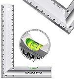 Reglas de Acero Inoxidable GALAX PRO 150 mm, 90° de Precisión con Nivel de Burbuja, Mango de...