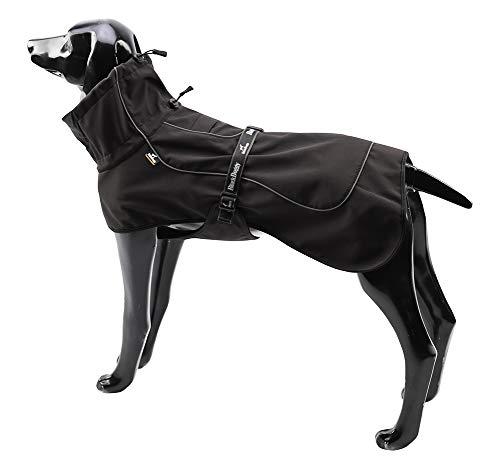 BLACKDOGGY Hundejacken für große Hunde Verstellbarer Kordelzug, Hundeweste Wintermantel Warme, ultraleichte, atmungsaktive 100{70ff5a8a8319c920e04a91649082e268e293a9159effa8fba3d1744fef6d59d9} wasserdichte Regenjacke Schwarz Größe XL