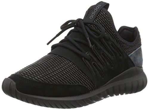 adidas Tubular Radial, Zapatillas de Running Hombre, Negro (Core Black/Dark Grey), 44 EU