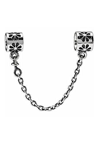 nambeads Catenina di sicurezza in vero argento sterling 925 per braccialetti Pandora o simili in confezione regalo.