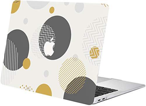 """ACJYX MacBook Pro 15 Pouces Coque 2015 2014 2013 2012 Version A1398 Coque De Protection en Plastique Motif Ordinateur Portable Coque Rigide pour MacBook Pro 15"""" avec Ecran Retina, Circulaire"""