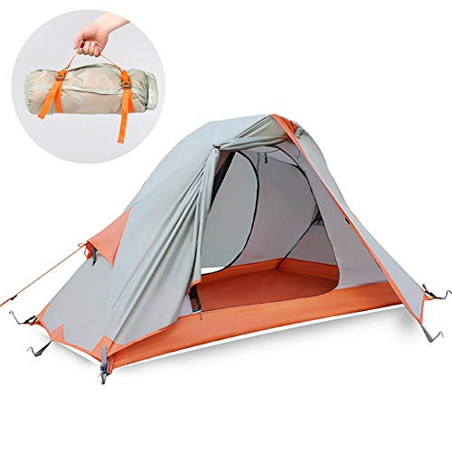 ZHYLOVE Single Outdoor Camping Zelt Tragbare Ultraleichte Sturmsichere Sandsturm Camping Reitausrüstung Doppel Aluminium Stange Zelt