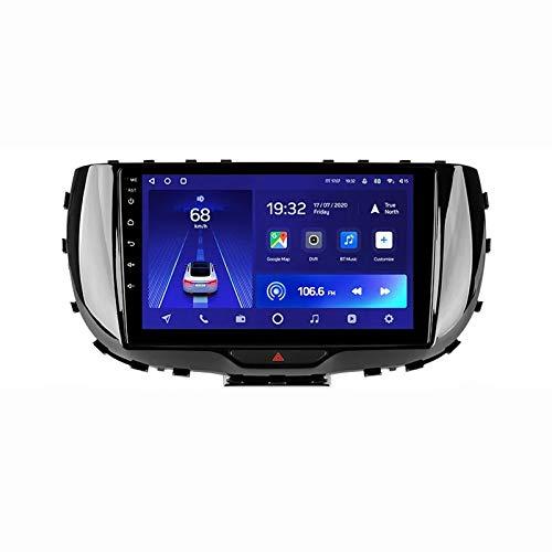 Radio Estéreo De Coche Bluetooth Apoyo De Reproductor MP5 Llamadas Manos Libres Radio FM Enlace Espejo/WiFi/AUX Entrada/1080P Video/DSP/4G, para Kia Soul SK3 2019-2020,Octa Core,4G WiFi 2+32