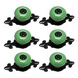 Tiradores de cerámica para armario, diseño vintage, verde, 6 unidades