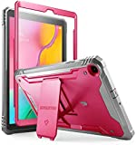 Galaxy Tab A 10.1 2019 Rugged Case with Kickstand, SM-T510/T515, Poetic Full Body Shockproof Cover, Built-in-Screen Protector, Revolution, for Samsung Galaxy Tab A Tablet 10.1 Inch (2019), Pink