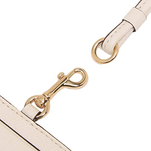 Coach Crossgrain Leather Lanyard Badge ID Holder Chalk F57311